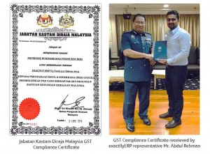 malaysia gst certificate exactllyerp receiving
